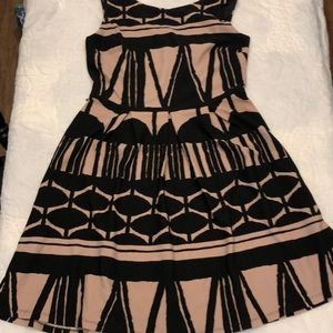 Taupe and Black Liz Claiborne Dress Wore Once